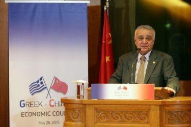 Ιδρύθηκε το Ελληνο-Κινεζικό Οικονομικό Συμβούλιο – Πρόεδρος της προσωρινής διοίκησης ο Φ.Προβατάς