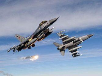 Εικονικό βομβαρδισμό στην Κίναρο έκαναν δύο τουρκικά F-16