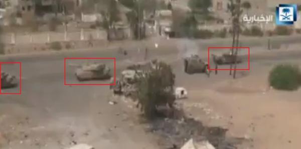 UAE+Leclerc+Main+Battle+Tanks+in+Yemen+engaging+Houthi+rebels+2