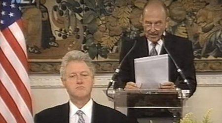 1999: Oταν ο Κ. Στεφανόπουλος υπογράμμιζε στον Μπιλ Κλίντον την ανάγκη σεβασμού της Συνθήκης της Λωζάννης