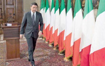 Ο Ρέντσι αφαιρεί τις σημαίες της Ε.Ε