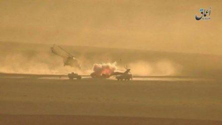Βίντεο από την καταστροφή ρωσικού ελικοπτέρου Mi-24P από πύραυλο του ISIS