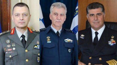 Αιφνιδιαστική αλλαγή αρχηγών των τριών Γενικών Επιτελείων