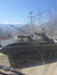 Τεθωρακισμένα οχήματα BMP-2 και BTR-80 έστειλε η κυβέρνηση των Σκοπίων στο Τέτοβο