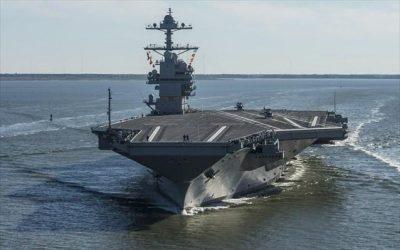 Πρώτες Δοκιμές Για Το «Πιο Προηγμένο Αεροπλανοφόρο Του Κόσμου», Το USS Gerald R. Ford