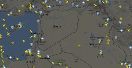 Συνεχίζει να είναι άδειος ο εναέριος χώρος της Συρίας