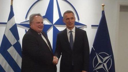 Συνάντηση Κοτζιά με τον ΓΓ του ΝΑΤΟ για τα Σκόπια