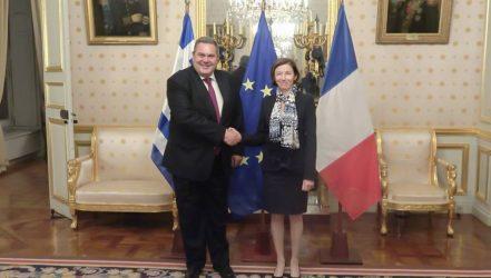 Συνάντηση ΥΕΘΑ Πάνου Καμμένου με την Υπουργό Άμυνας της Γαλλίας Florence Parly