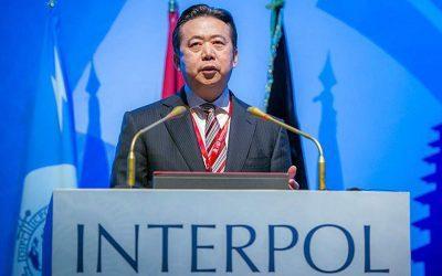 Από τις κινεζικές αρχές φέρεται να κρατείται ο επικεφαλής της Ιντερπόλ