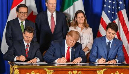 Τραμπ, Τριντό και Νιέτο υπέγραψαν τη συμφωνία που αντικαθιστά τη NAFTA