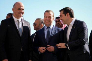 Παλέρμο – Συνομιλία Αλέξη Τσίπρα με Μεντβέντεφ και Φατάχ Αλ Σίσι