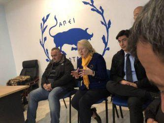 Η πρέσβης της Ελλάδος στην Αλβανία στην Χιμάρα