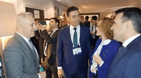 Συνάντηση Αποστολάκη με Zaev,Dimitrov και Sekerinska