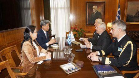 Συνάντηση ΥΕΘΑ Ευάγγελου Αποστολάκη με τον Πρέσβη της Δημοκρατίας της Κορέας