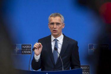 NATO Secretary General Jens Stoltenberg following the meetings of NATO Defence Ministers
