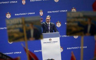 Μεγάλη συγκέντρωση Βούτσιτς στο Βελιγράδι με υποστηρικτές και από γειτονικές χώρες