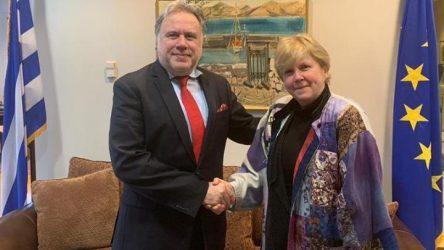Η «διεθνής διάσταση» του Κυπριακού στο επίκεντρο της συνάντησης του Γ. Κατρούγκαλου με την ειδική απεσταλμένη του ΓΓ του ΟΗΕ