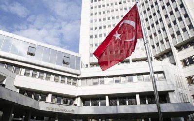 Το τουρκικό ΥΠΕΞ απορρίπτει τις δηλώσεις Ελλήνων και Ευρωπαίων αξιωματούχων