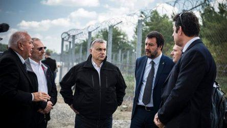 Όρμπαν και Σαλβίνι περιοδεύουν στον συνοριακό φράκτη της Ουγγαρίας και καλούν σε συστράτευση κατά της μετανάστευσης