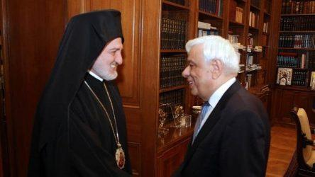 Συνάντηση του ΠτΔ με τον αρχιεπίσκοπο Αμερικής Ελπιδοφόρο