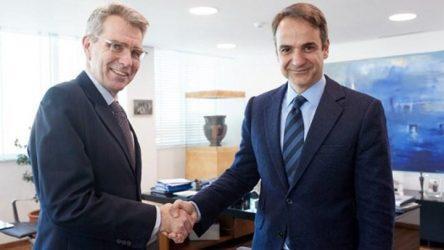 Συνάντηση Κ. Μητσοτάκη με τον πρέσβη των ΗΠΑ, Τζέφρι Πάιατ