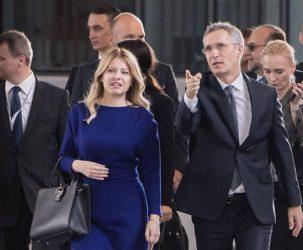 Συνάντηση του Γενικού Γραμματέα του ΝΑΤΟ με την πρόεδρο της Σλοβακίας