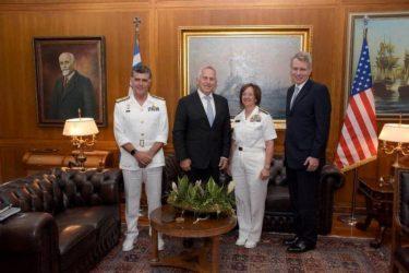 Συνάντηση ΥΕΘΑ Ευάγγελου Αποστολάκη με την Commander US 6th Fleet