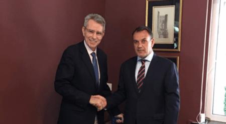 Συνάντηση του Υπουργού Άμυνας με τον Αμερικανό Πρέσβη, Τζέφρι Πάιατ