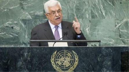 Ο Παλαιστίνιος πρόεδρος Αμπάς απειλεί να τερματίσει όλες τις συμφωνίες με το Ισραήλ