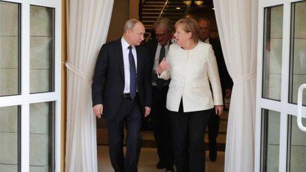 Επικοινωνία Μέρκελ – Πούτιν για Συρία, Λιβύη και Ουκρανία