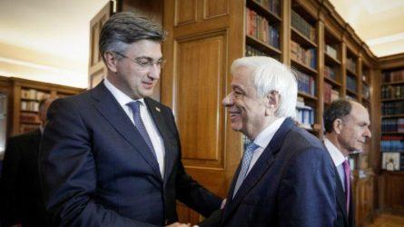 Ο Πρόεδρος της Δημοκρατίας συναντήθηκε με τον πρωθυπουργό της Κροατίας