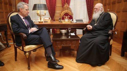 Στήριξη του Αμερικανού Πρέσβη στον Αρχιεπίσκοπο Ιερώνυμο