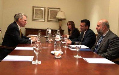 Τζέφρι Πάιατ στην συνάντηση με Ζάεφ: Η Ελλάδα σημαντική για την ασφάλεια και την άμυνα της Βόρειας Μακεδονίας
