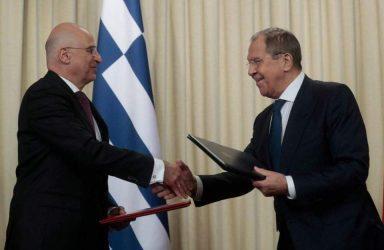 Δένδιας σε Λαβρόφ: Εναρξη νέου κεφαλαίου στις σχέσεις Ελλάδας – Ρωσίας
