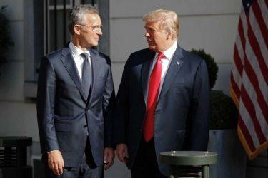 Συνάντηση Τραμπ με τον Γ.Γ. του ΝΑΤΟ την Πέμπτη