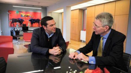 Συνάντηση του Αλέξη Τσίπρα με τον Αμερικανό Πρέσβη