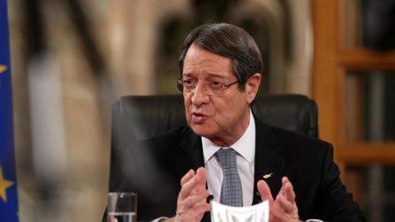 Αναστασιάδης: Θα συνεχίσω με επιμονή τις προσπάθειες για επανέναρξη των συνομιλιών