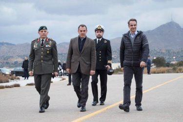 Στην 115 Πτέρυγα Μάχης ο Πρωθυπουργός και ο Υπουργός Άμυνας