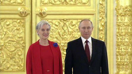 Η νέα Πρέσβειρα της Ελλάδας στην Μόσχα παρέδωσε τα διαπιστευτήρια της στον Βλαντίμιρ Πούτιν