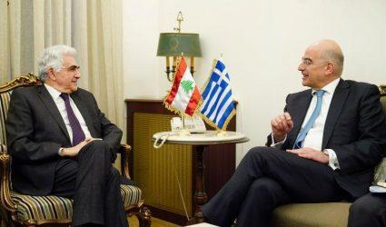 Τηλεφωνική επικοινωνία Νίκου Δένδια με ΥΠΕΞ Λιβάνου