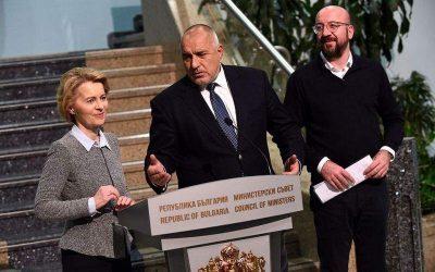 Τον Μπορίσοφ επισκέφτηκαν μετά τον Έβρο Ούρσουλα φον ντερ Λάιεν και Σαρλ Μισέλ