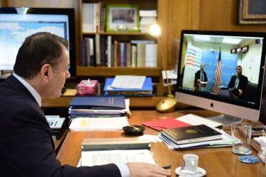 Στο επίκεντρο ζητήματα αμυντικής συνεργασίας μεταξύ Ελλάδας – ΗΠΑ στην τηλεδιάσκεψη Παναγιωτόπουλου – Πάιατ