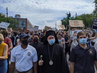 Σε διαδήλωση στο Μπρούκλιν ο Αρχιεπίσκοπος Αμερικής Ελπιδοφόρος