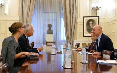 Συνάντηση Υπουργού Εξωτερικών με τον Γερμανό πρέσβη