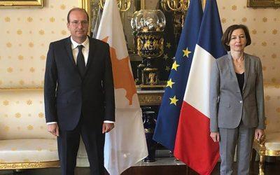 Eνίσχυση της αμυντικής συνεργασίας Γαλλίας-Κύπρου