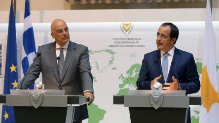 Δένδιας-Χριστοδουλίδης: Κοινός βηματισμός και διαρκής συντονισμός Αθήνας και Λευκωσίας