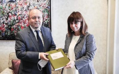 Συνάντηση της Προέδρου της Δημοκρατίας με τον Δήμαρχο Αμμοχώστου