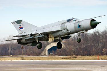 Συνετρίβη αεροσκάφος MIG-21 στην δυτική Σερβία