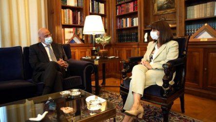Συνάντηση Νίκου Δένδια με την Πρόεδρο της Δημοκρατίας