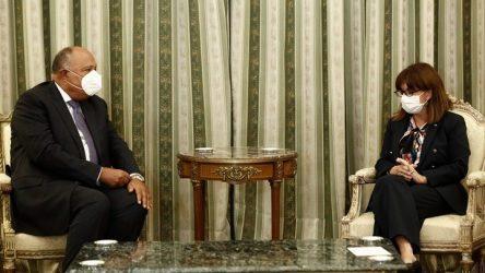 Συνάντηση της Προέδρου της Δημοκρατίας με τον ΥΠΕΞ της Αιγύπτου